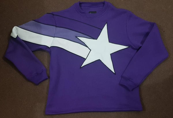 Image of Stupid Hands Purple Star Sweater Preorder