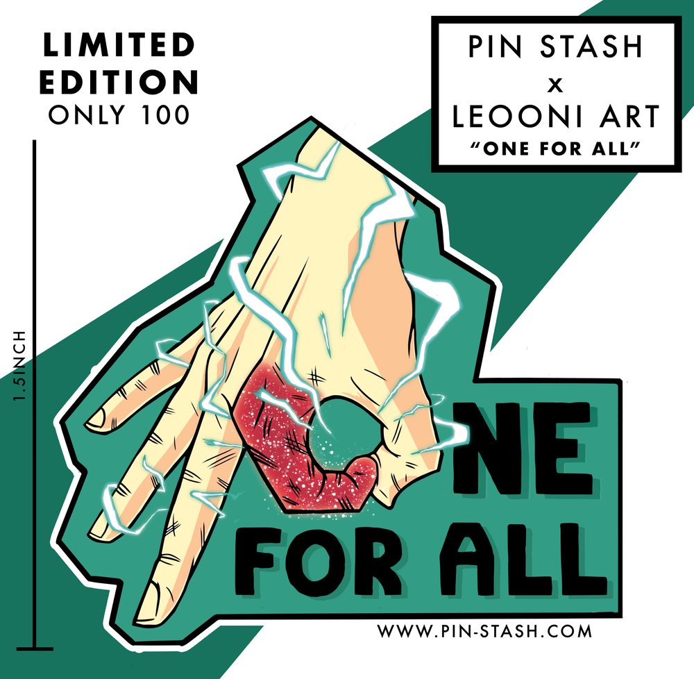 "Image of ""One For All"" Hard Enamel Pin - (Pre-order)"