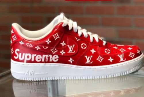 08863d549898 Image of Custom Louis Vuitton Supreme Air Force One Lows ...
