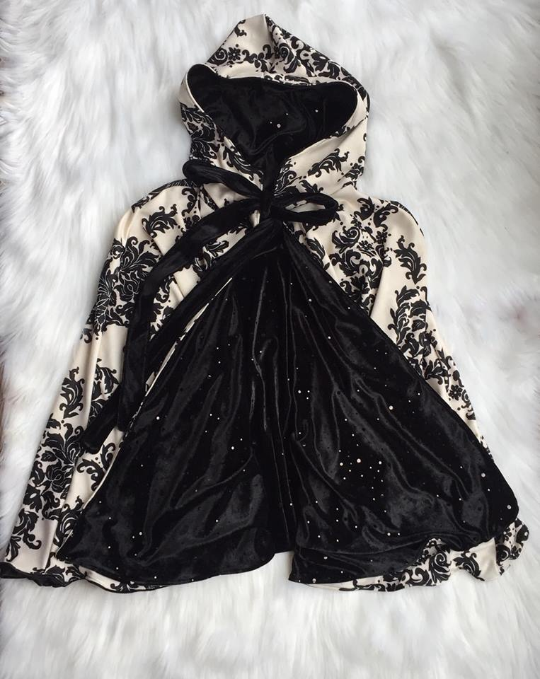 Image of Embellished Black Velvet