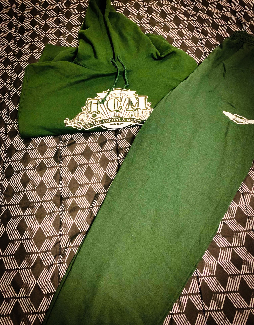 """Image of TCM """"Olive Green"""" Hoodie/Jogger Suit"""