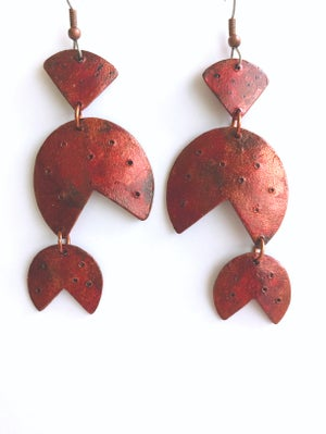 Image of Barbados Earrings / Burnt Copper Finish / Paper