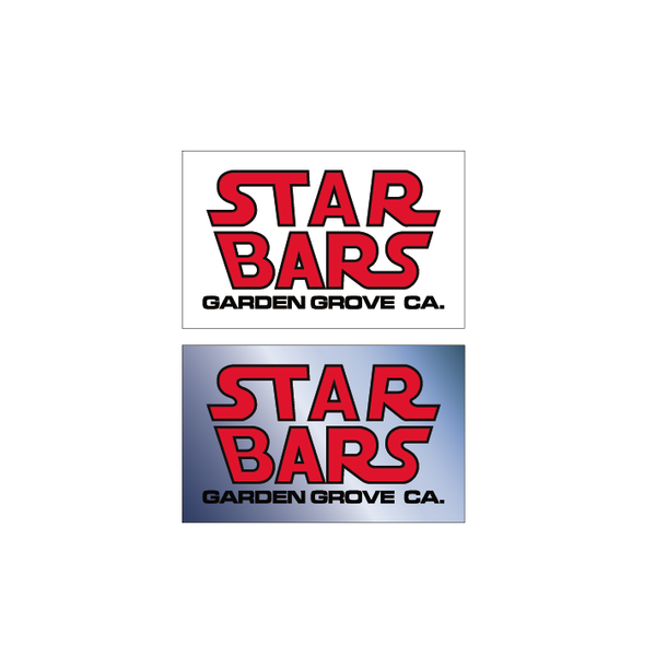 Image of Star Bars Decal