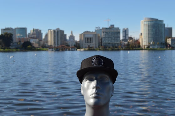 Image of The O Hats Black And Dark Gray Snap-Backs