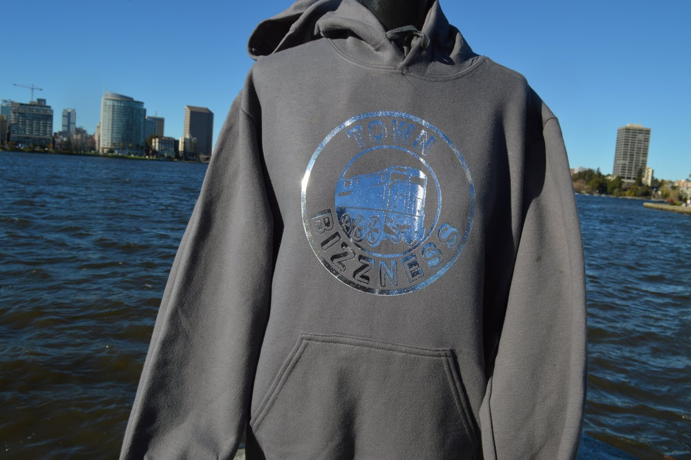 Image of Town Bizzness Gray and Silver Hoodie