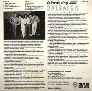 Image of DALGALAR - INTRODUCING LP