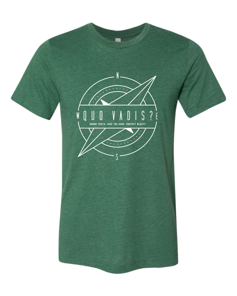 Image of Forest Green Quo Vadis Compass Tee