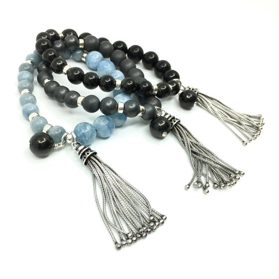 Image of New! Long Tasseled Wrist Mala