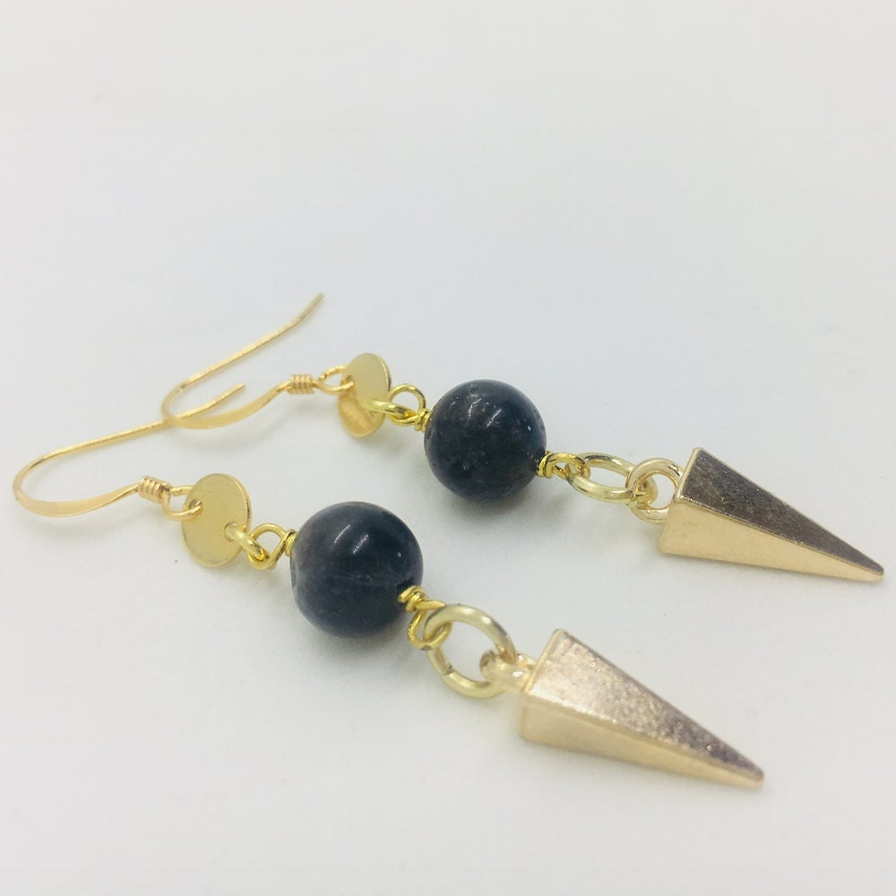 Image of Gold Spike Earrings
