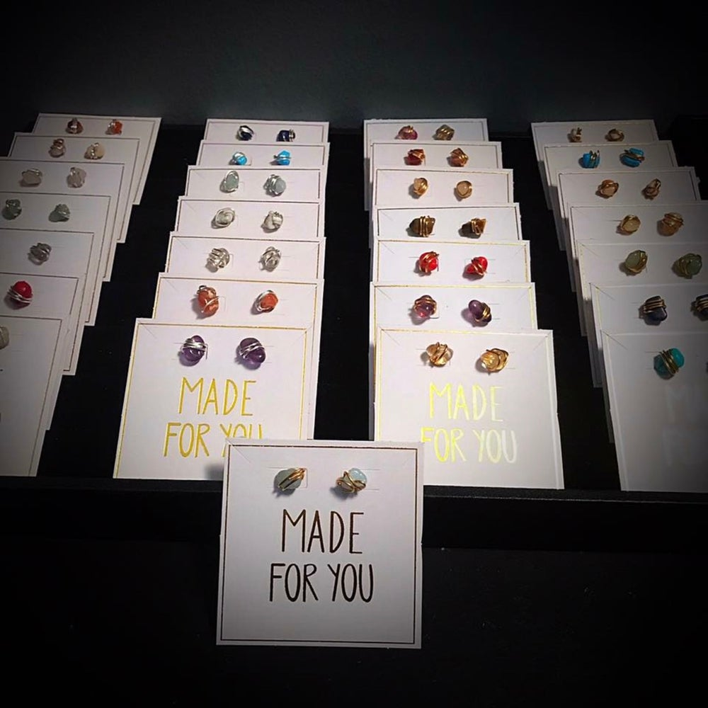 Image of Healing Crystal  Stud Earring Collection