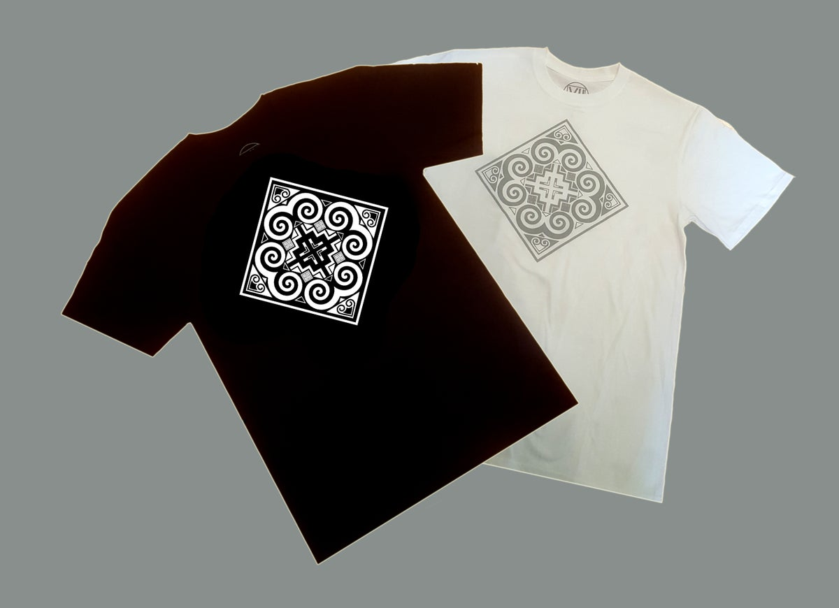 Image of Black/ White Diamond Tribal T-Shirt