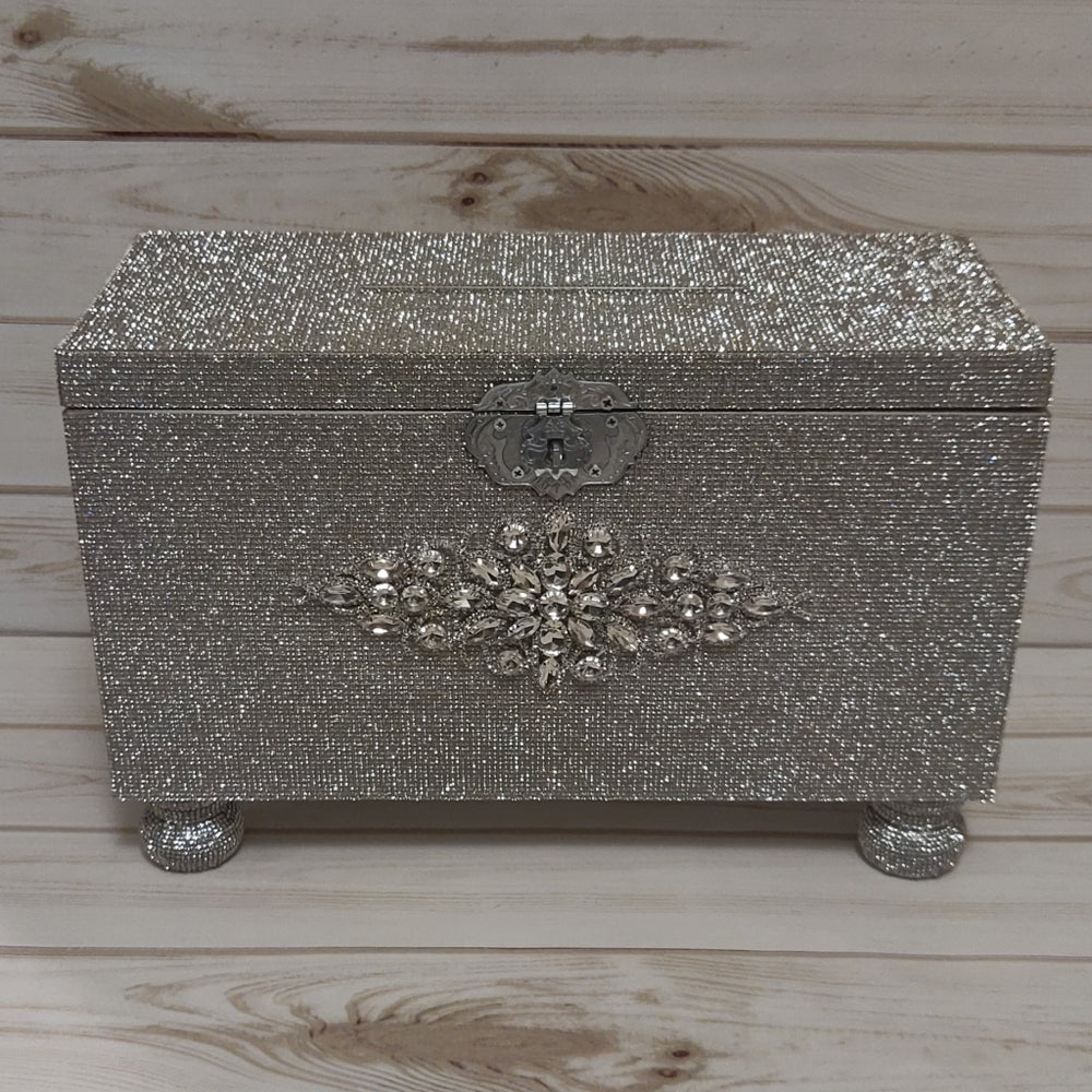"Image of ""Lauren"" Full Rhinestone Card Box (Available in rose gold)"