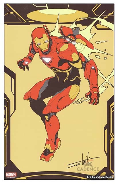 Image of Official Marvel Iron Man Print signed by Valerio Schiti