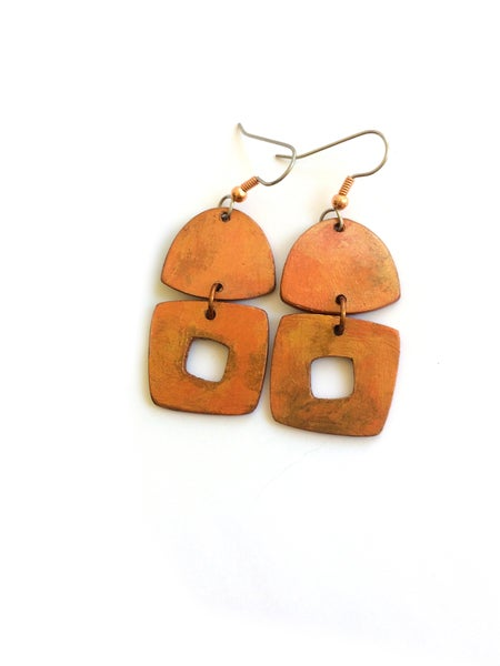 Image of Annabella Earrings / Copper Finish / Paper
