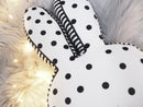 Image of Black & White Bunny Cushion