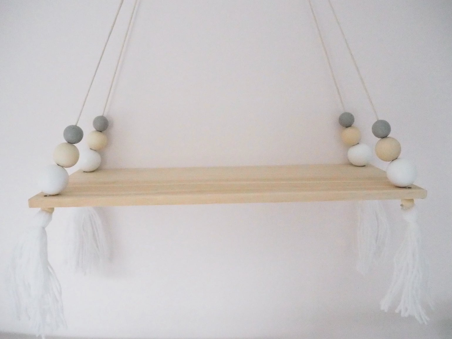 Image of Wooden Beaded Shelf