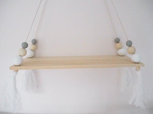 Image of Wooden Beaded Shelf