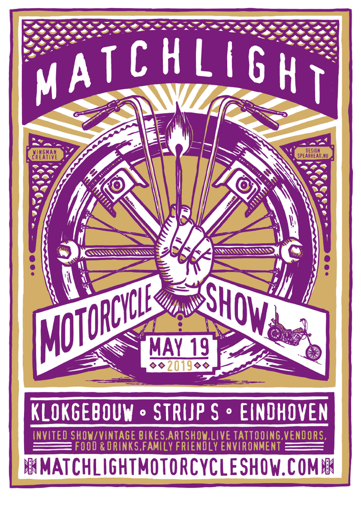 Image of PRE-ORDER Matchlight Motorcycle Show 2019 Hardcopy Ticket and Poster