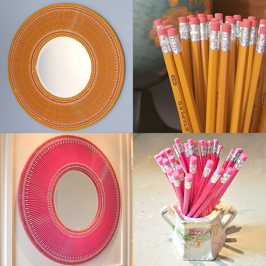 Image of Pencil Mirrors (Orange, Pink)