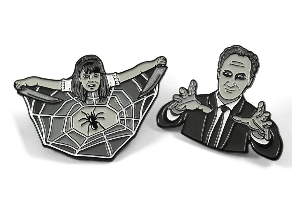 Image of Spider Baby and Carnival of Souls inspired pins