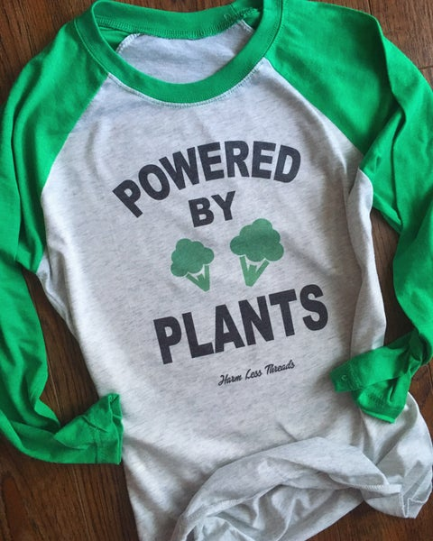 Image of Powered By Plants 3/4 sleeve