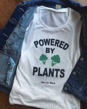 Image of Powered by plants muscle tank/shirt