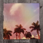 Image of Stay Positive Tropical Rainbow Framed Statement-NEW!
