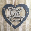 Image 3 of Lasercut Birthday/Anniversary Heart