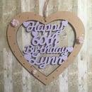 Image 4 of Lasercut Birthday/Anniversary Heart