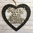 Image 5 of Lasercut Birthday/Anniversary Heart