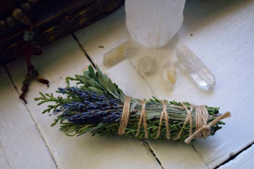 Image of New Moon Ritual Smoke Wand   smudge stick   New Moon incense