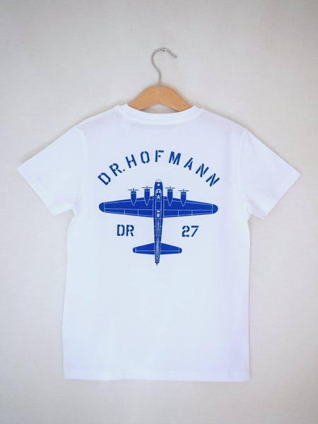"Image of Kids ""BOMBER"" Tee - Organic Cotton - White"
