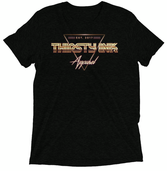 Image of Thirsty Ink Retro Gold T-Shirt