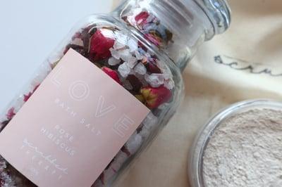 Image of LOVE  Rose + Hibiscus Herbal Bath Salts