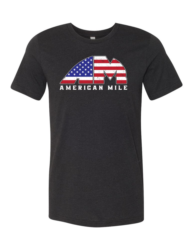 Image of OFFICIAL - AMERICAN MILE - HEATHER BLACK UNISEX SHIRT