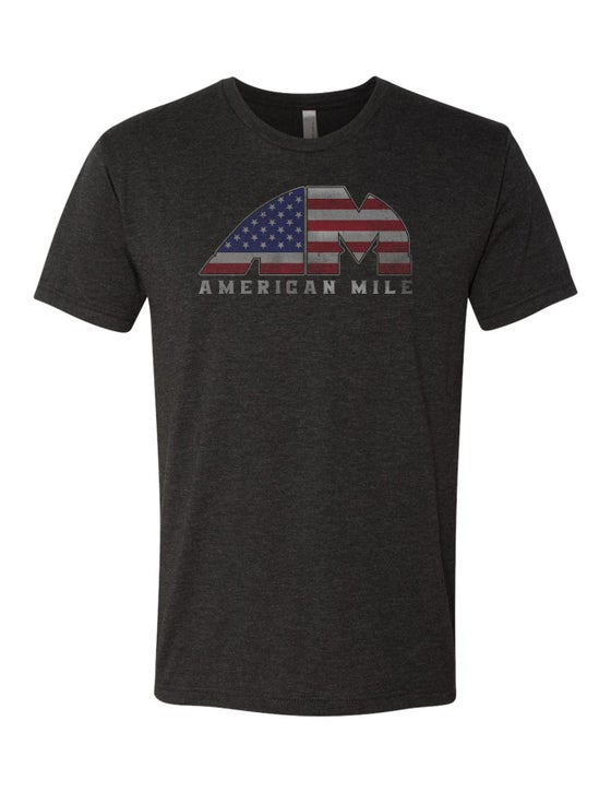 Image of OFFICIAL - AMERICAN MILE - VINTAGE DISTRESSED TRI-BLEND UNISEX SHIRT