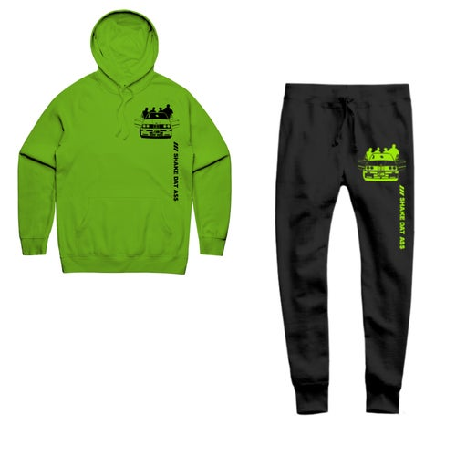 Image of ///SHAKE DAT A$$ HOODY- LIME
