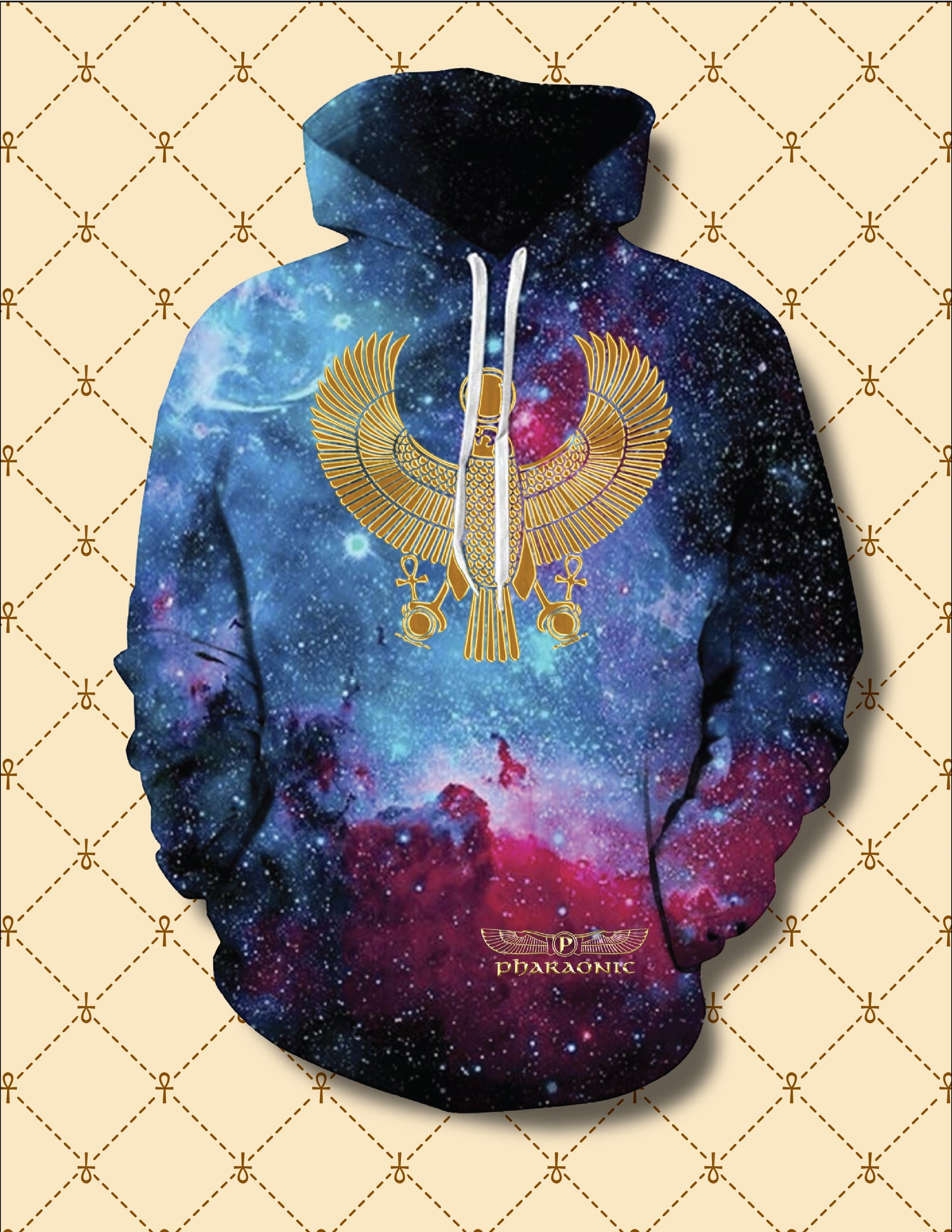 "Image of ""UNIVERSAL GREATNESS"" GOLD HRU UNISEX HOODIE"