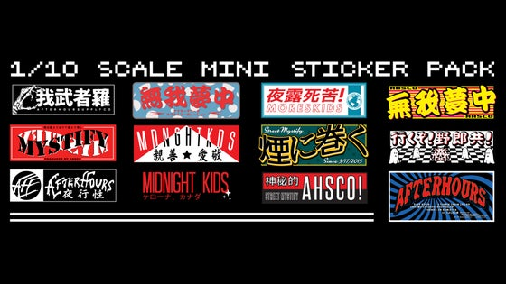 Image of 1/10 Scale Sticker pack