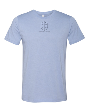 Image of Light Blue Surrender and Strive Tee