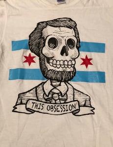 "Image of ""Abraham Lincoln Chicago Flag Logo"" Shirt"