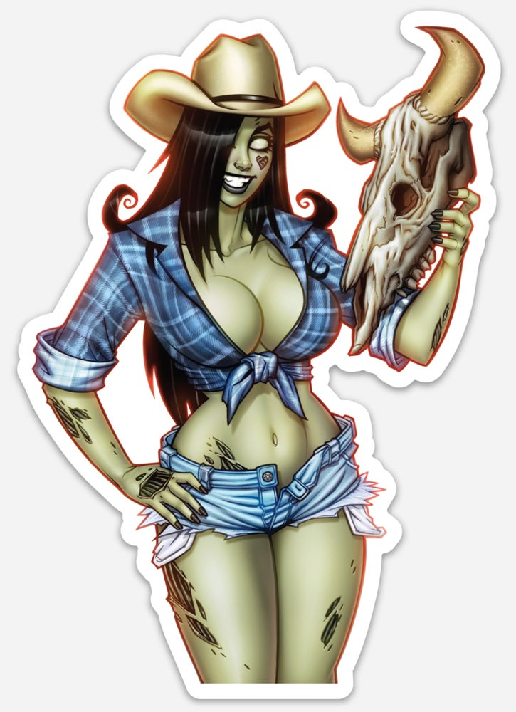 Image of Cowgirl Die Cut Sticker