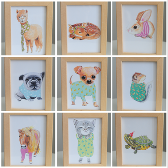 Image of Prints of Original Artwork - Choose from 12 Animals