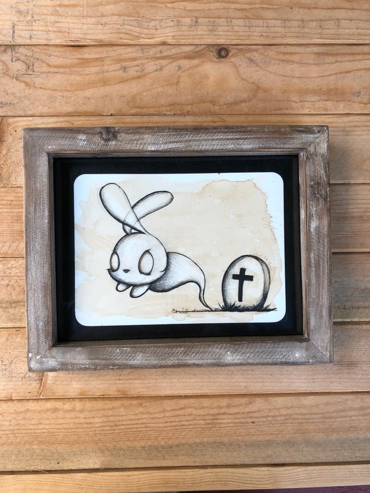 "Image of ""Ghost Bunny"" original"