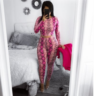 Image of Pink snake skin set