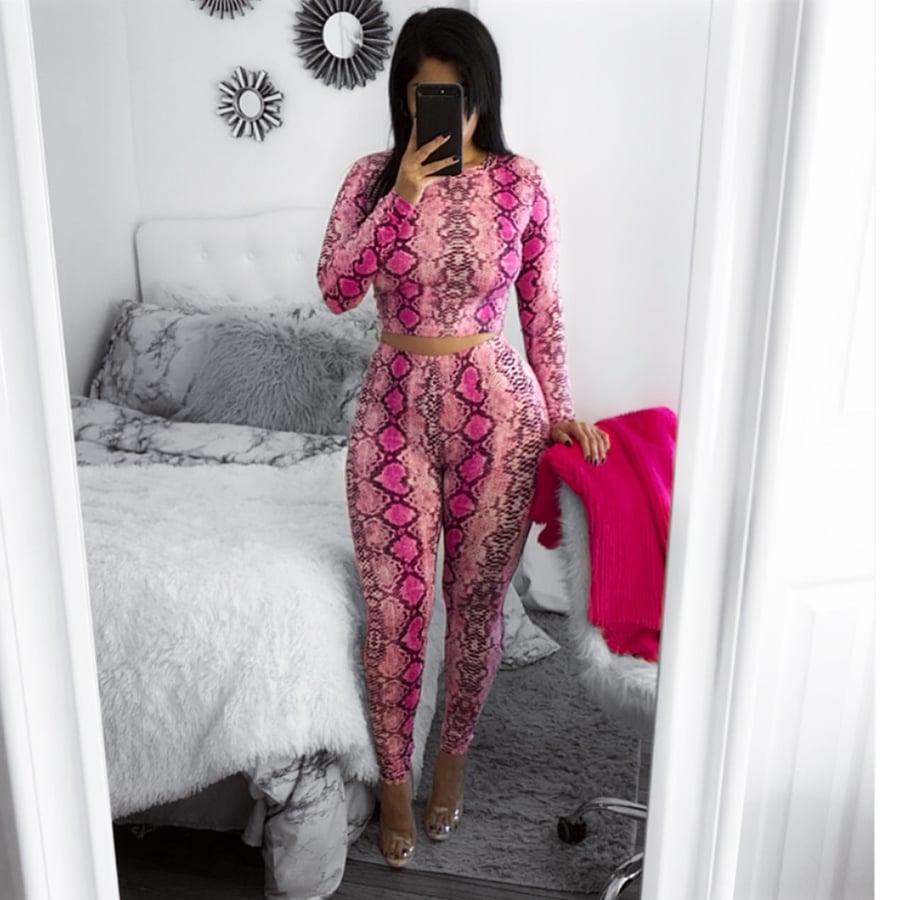 Image of Pink snake skin set