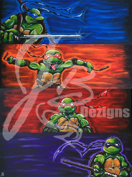 "Image of ""The Four Turtles of The Shellpocalypse"" PRINT"