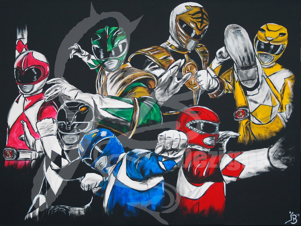 """Image of """"Mighty Morphin' Masterpiece"""" PRINT"""