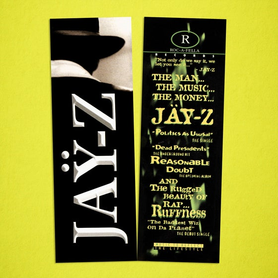 Image of Jay-Z Reasonable Doubt Bookmark