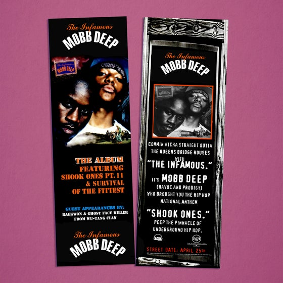 "Image of Mobb Deep ""The Infamous"" Bookmarks"